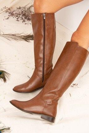 Fox Shoes Taba Kadın Çizme J654065609