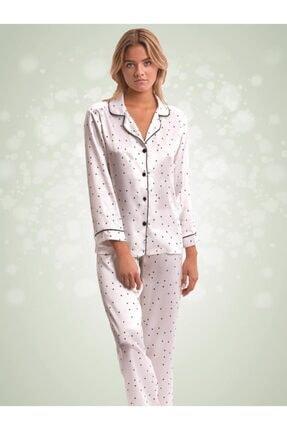 NBB Puantiyeli Saten Pijama 66394