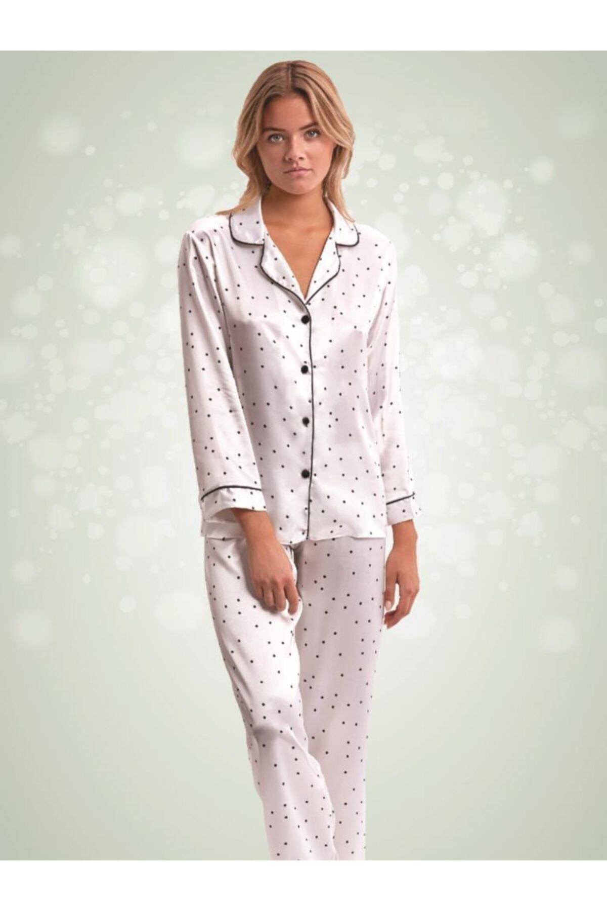 NBB Puantiyeli Saten Pijama 66394 1