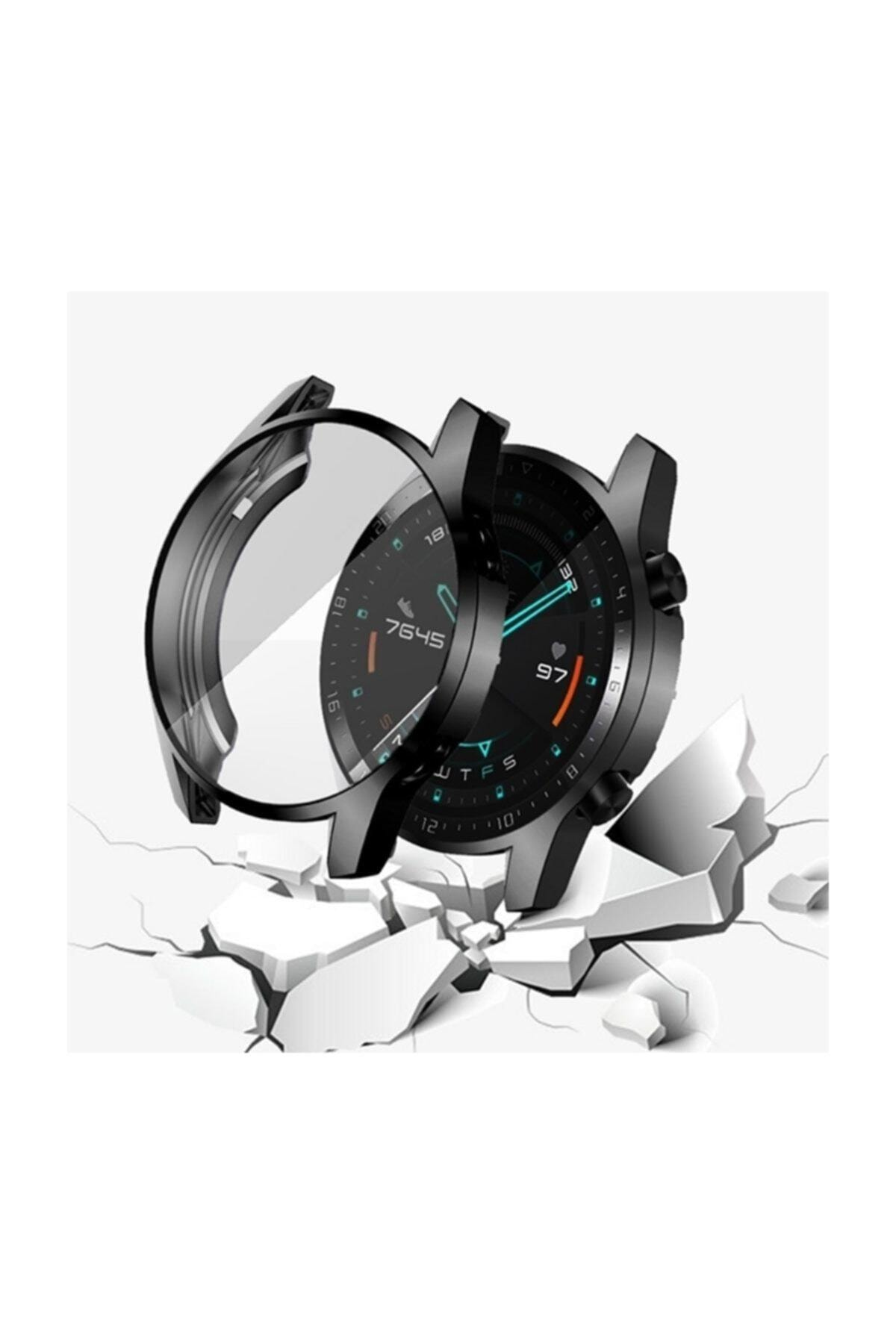 Ally Huawei Watch Gt 2 46mm 360 Koruma Ultra Ince Silikon Kılıf - Siyah 2
