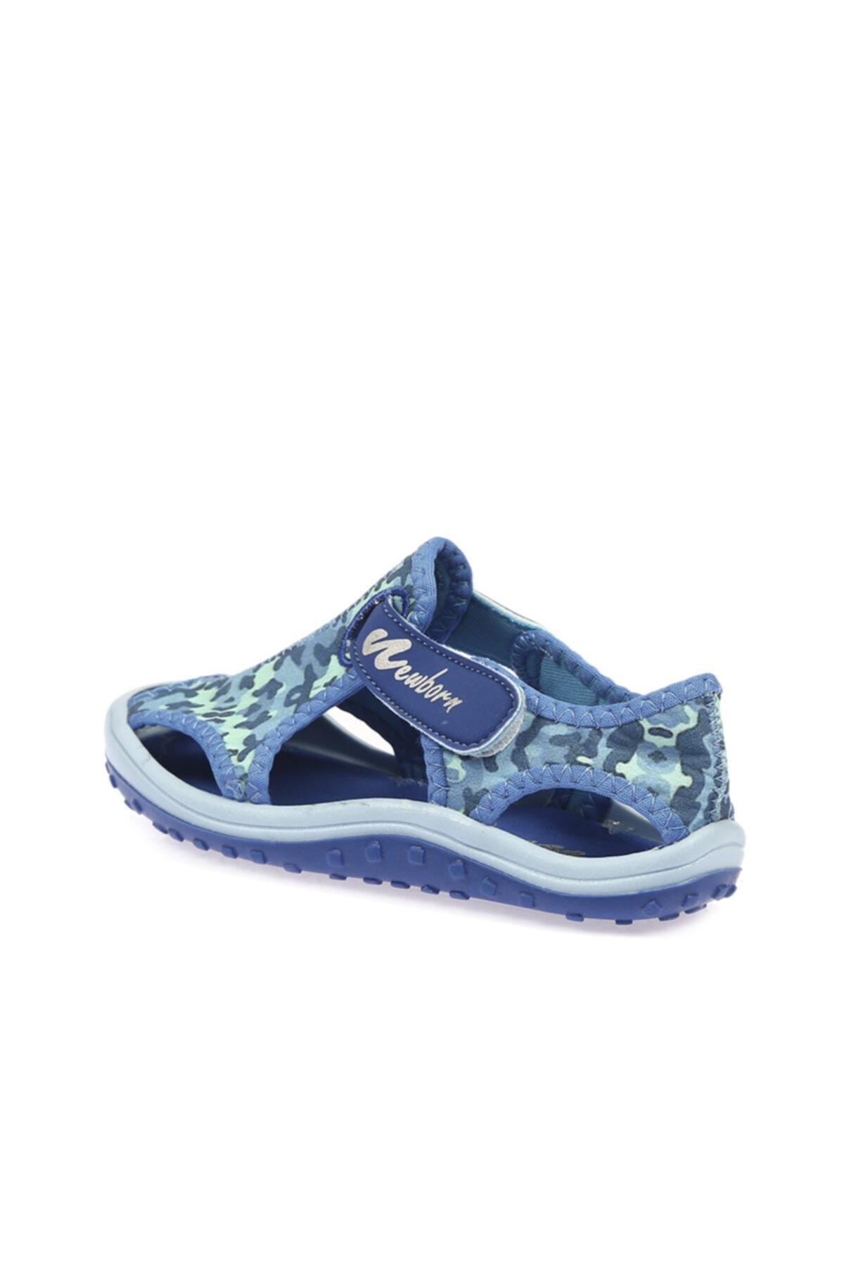 Newborn NAQ5010 LYON SANDALS CAMO Mavi Unisex Çocuk Sandalet 100446240 2