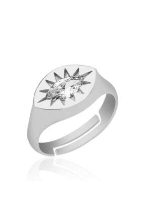 Gumush Gümüş Ayarlanabilir Kuzey Yıldızı Şovalye Yüzük