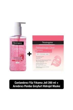 Neutrogena Canlandırıcı Yüz Yıkama Jeli Pembe Greyfurt 200 ml +Arındırıcı Hidrojel Maske