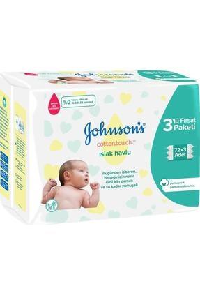 Johnson´s Baby Johnson's Baby Losyonlu Islak Mendil 72' Li Parfümsüz 3 Adet