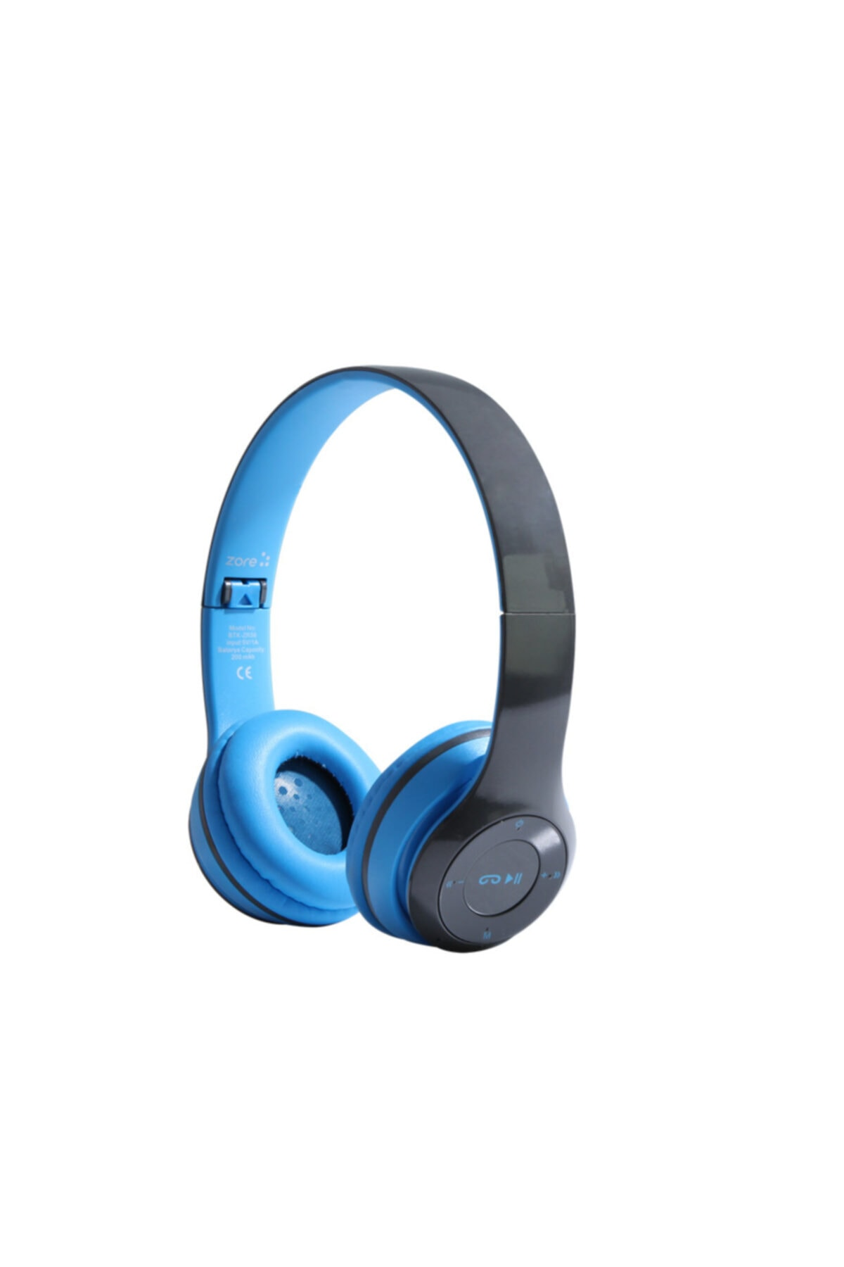 zore Bluetooth Kulaklık Kulaküstü Kablosuz Kumandalı Extra Bass Hd Ses Katlanabilir Ayarlanabir 1