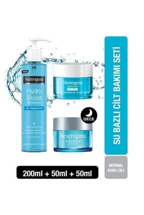 Neutrogena Hydro Boost Gel Cream 50 ml+Gece Kremi 50ml+Jel Temizleyici 200 ml