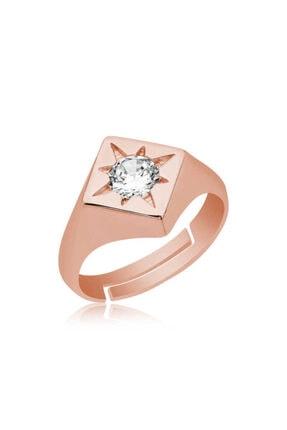 Gumush ?gümüş Ayarlanabilir Rose Kutup Yıldızı Şovalye Yüzük