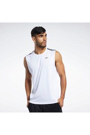 Reebok Fk6185 Workout Ready Tech Tee Erkek Beyaz Spor Kolsuz Tişört