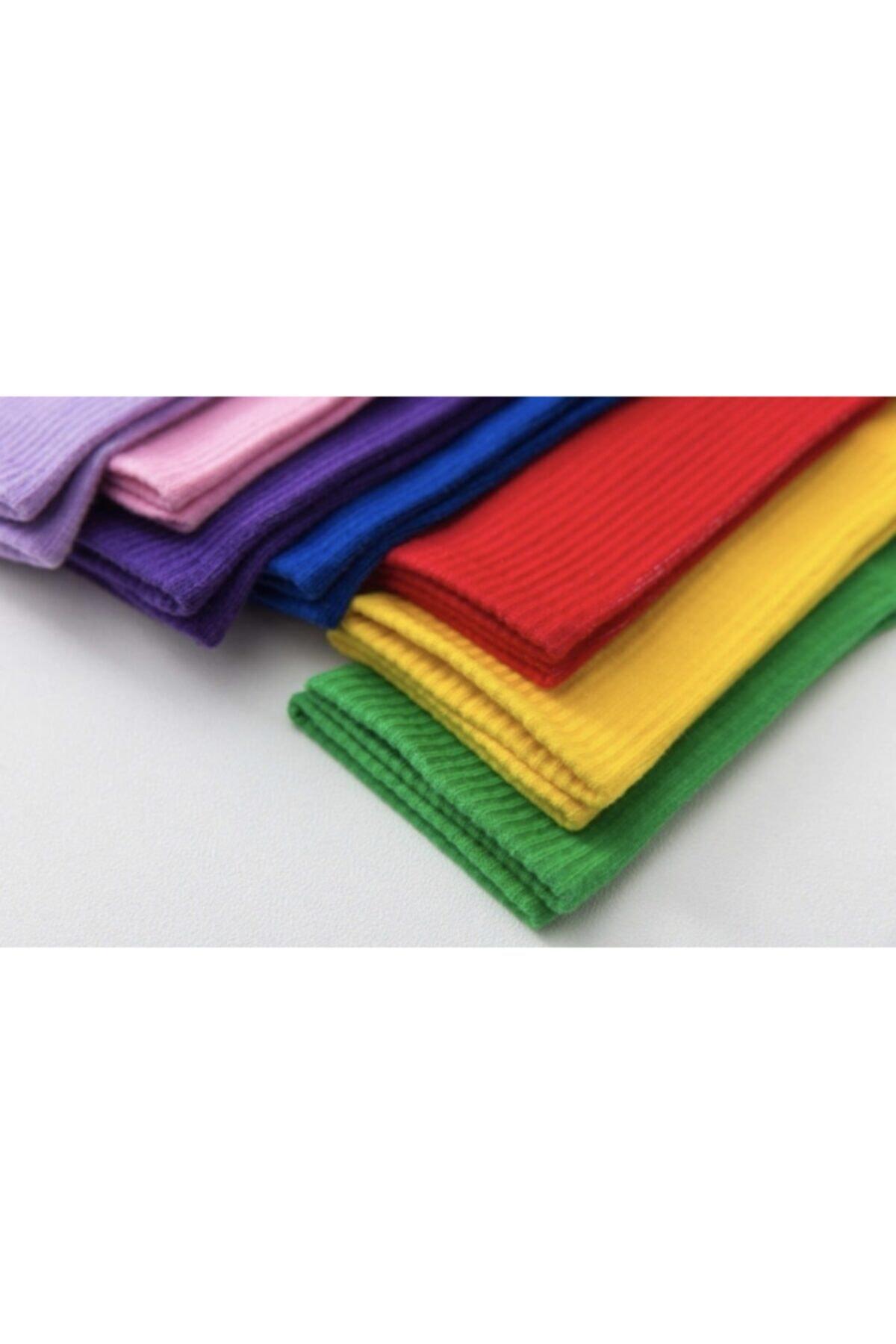 SOYTEMİZ ÇORAP Unisex Çok Renkli Kolej Çorap Düz 10 Çift 2