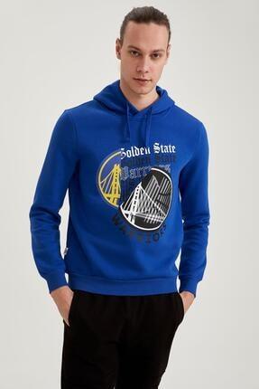 DeFacto Nba Lisanslı Unisex Slim Fit Kapüşonlu Sweatshirt