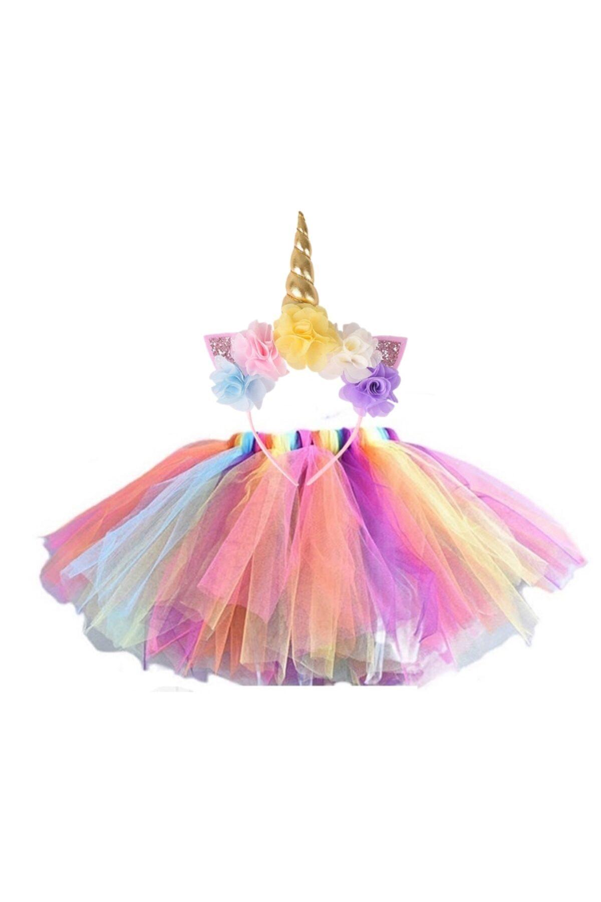 bba new trend Unicorn Taç Tütü Etek Seti.doğum Günü Parti Kostüm 2 Liset 1