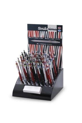Scrikss Simo Color Versatil Kalem (mekanik Kurşun Kalem) 0.5mm + 0.7mm Karışık Renk (40 Lı Stand)