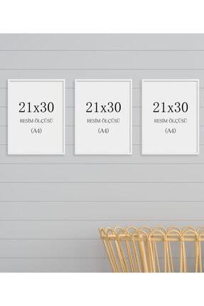 tablosetleri Beyaz Renk 21x30cm A4 3 Adet Boş Çerçeve