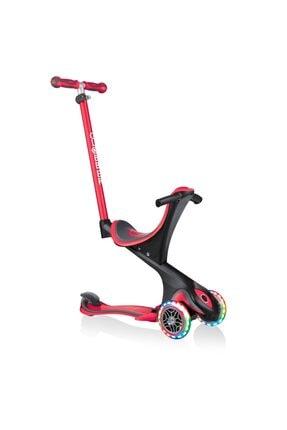 Globber Evo Go Up Comfort Işıklı Kırmızı Scooter