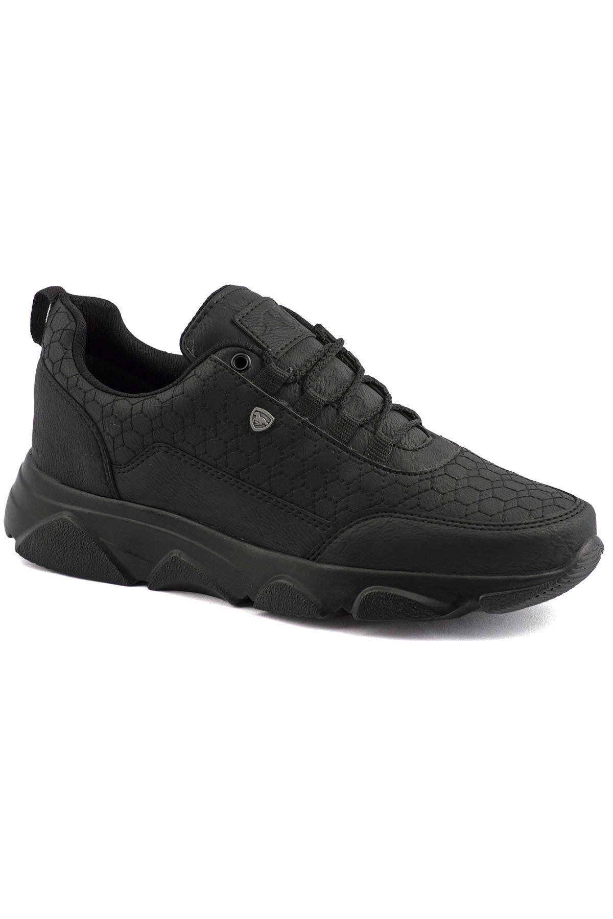 L.A Polo 005 Siyah Siyah Erkek Spor Ayakkabı 1