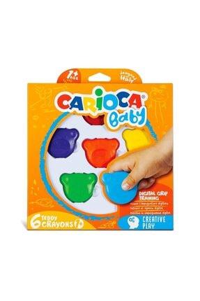 CARIOCA Baby Teddy Crayons 6'lı