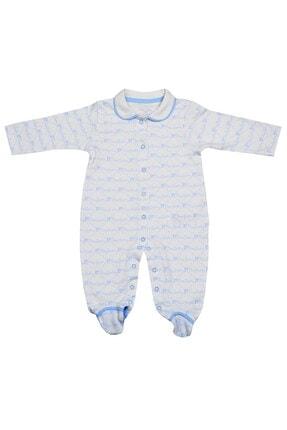 Pierre Cardin Baby Pierre Cardin Küçük Yazılı Yakalı Erkek Bebek Tulumu Mavi