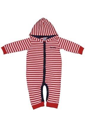 Pierre Cardin Baby Pierre Cardin Çizgili Taraftar Erkek Bebek Tulumu Kırmızı-beyaz