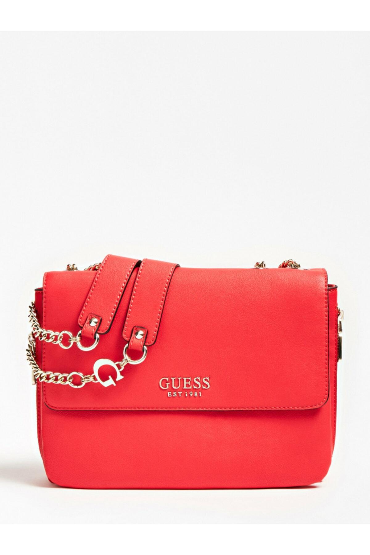 Guess Kadın Kırmızı G Chain Omuz Çantası 2