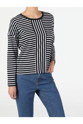 Colin's Kadın Lacivert Uzun Kol T-shirt