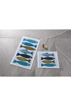 Confetti Fishy Mavi 2'li Banyo Takımı