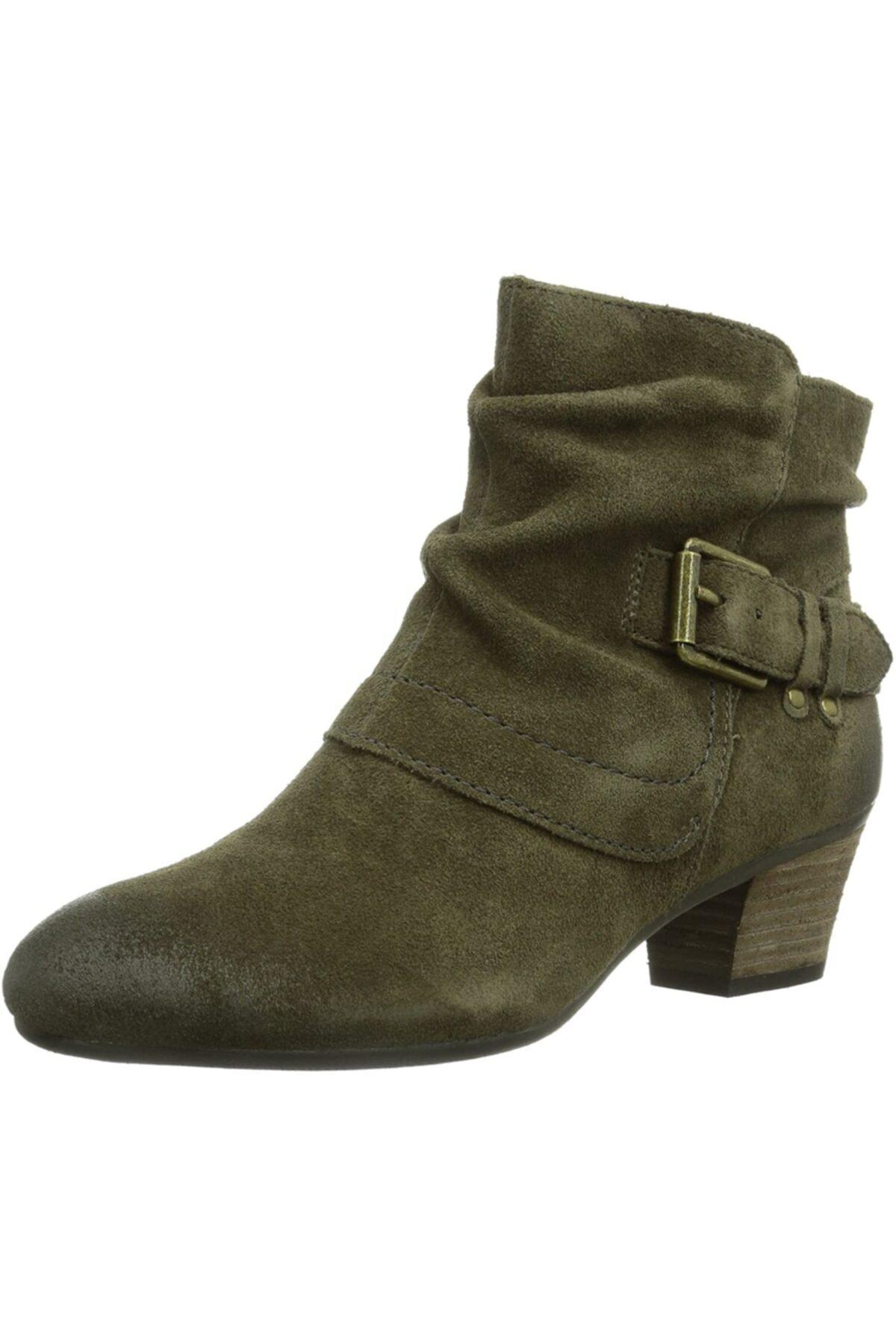 CLARKS Kadın Yeşil Bot Sırçalı Yağlı Nubuk Cowboy Boots Melani Jude 1