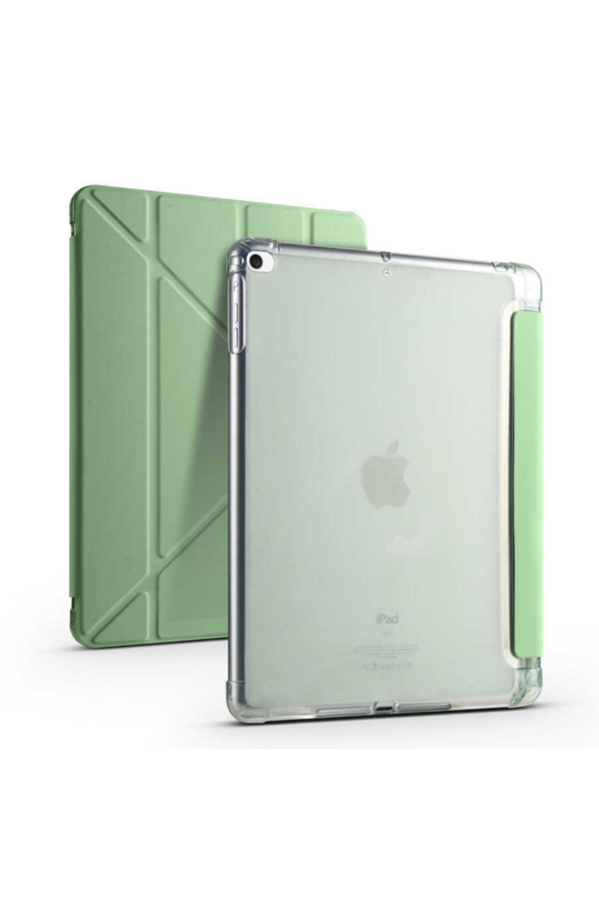 carına vannı Apple Ipad 9.7 2018 Uyumlu Açık Yeşil,kalem Bölmeli,katlanabilir Tablet Kılıfı,standlı Kılıf Pnd 1