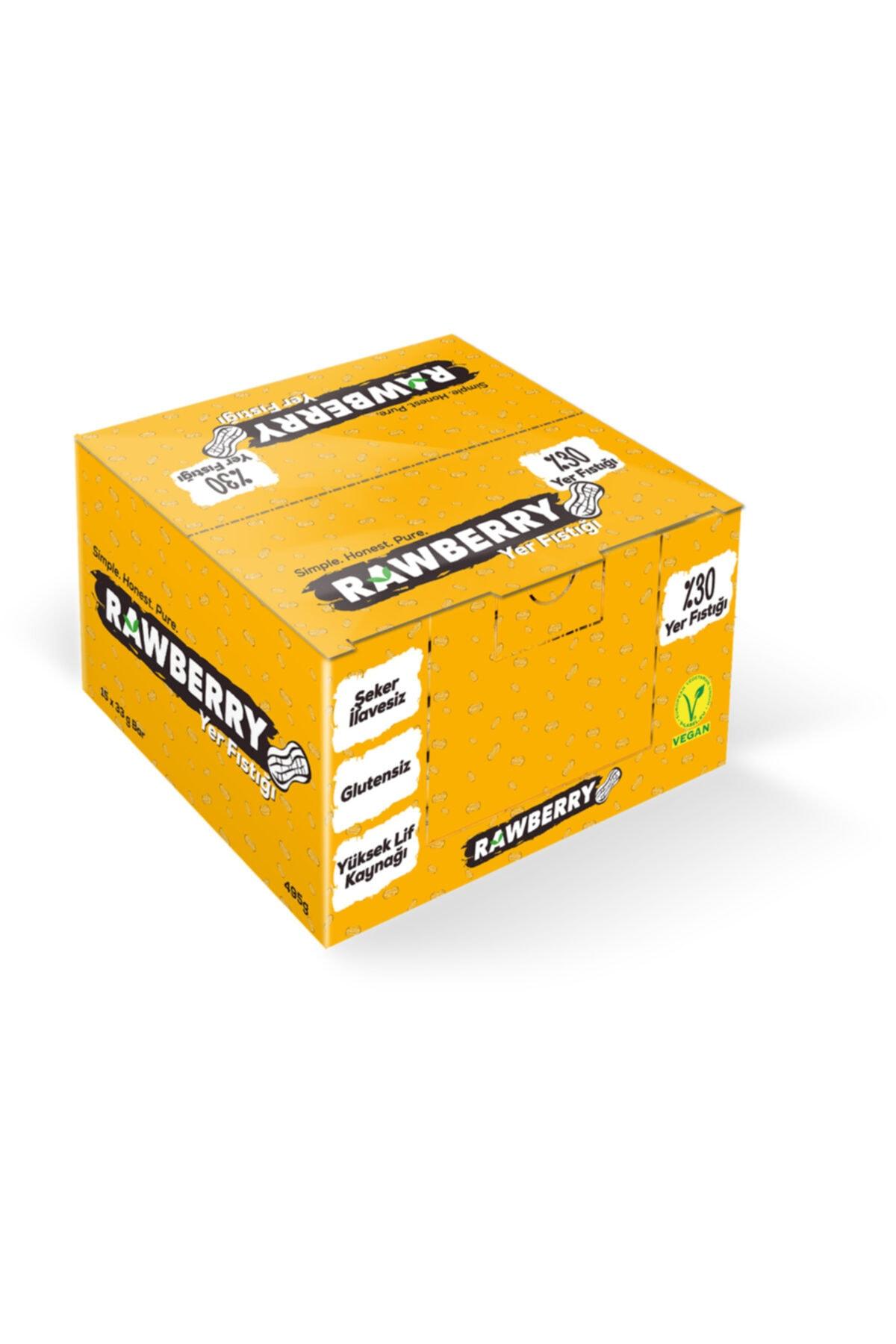 Rawberry Yer Fıstıklı Şeker Ilavesiz Vegan Glutensiz Kuruyemiş Bar (kutuda 15 Adet) 2