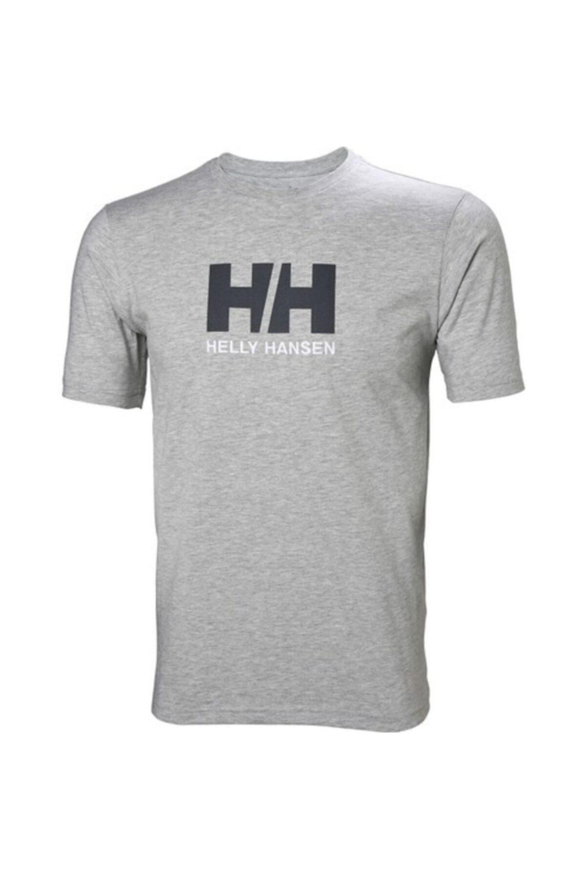 Helly Hansen Hh Logo Erkek T-shirt Gri Melanj 1