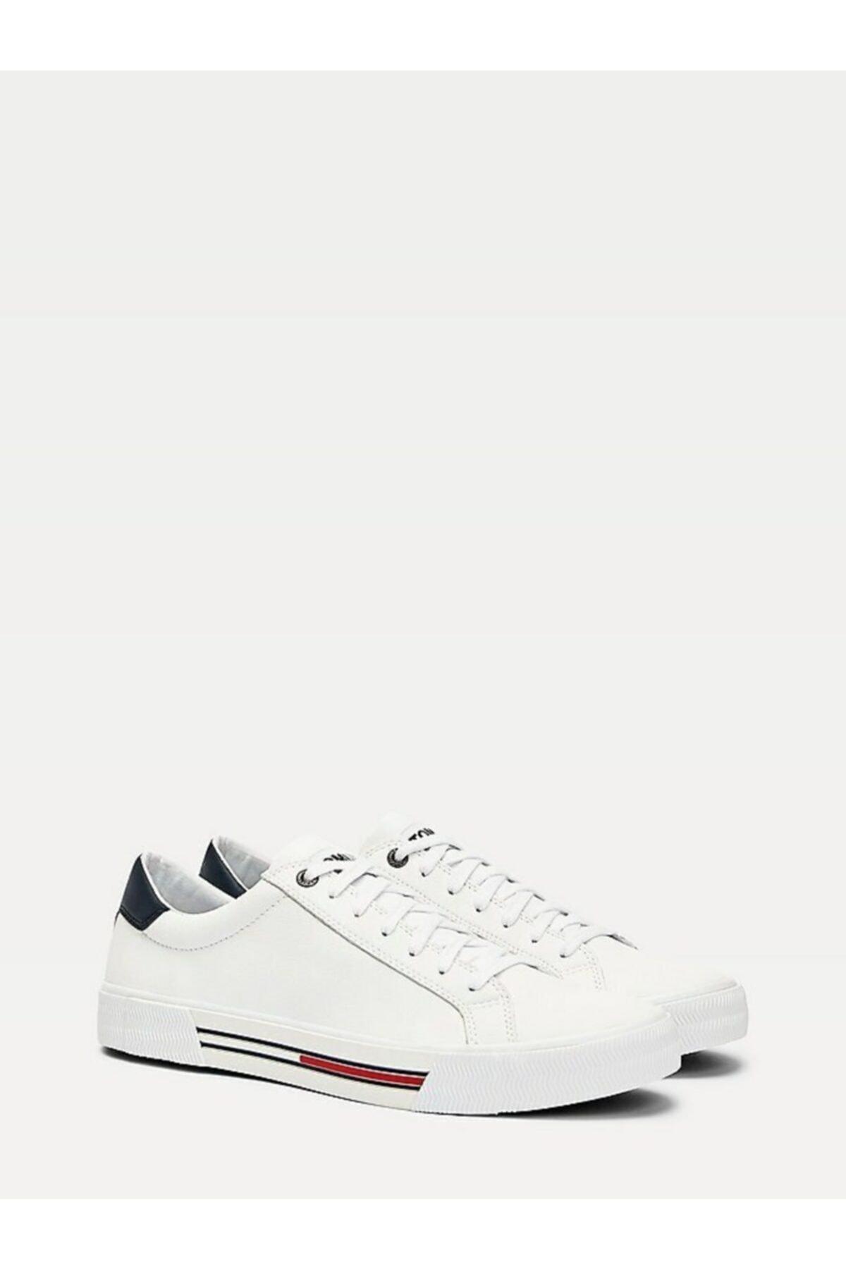 Tommy Hilfiger Erkek Th Essential Deri Sneaker 1