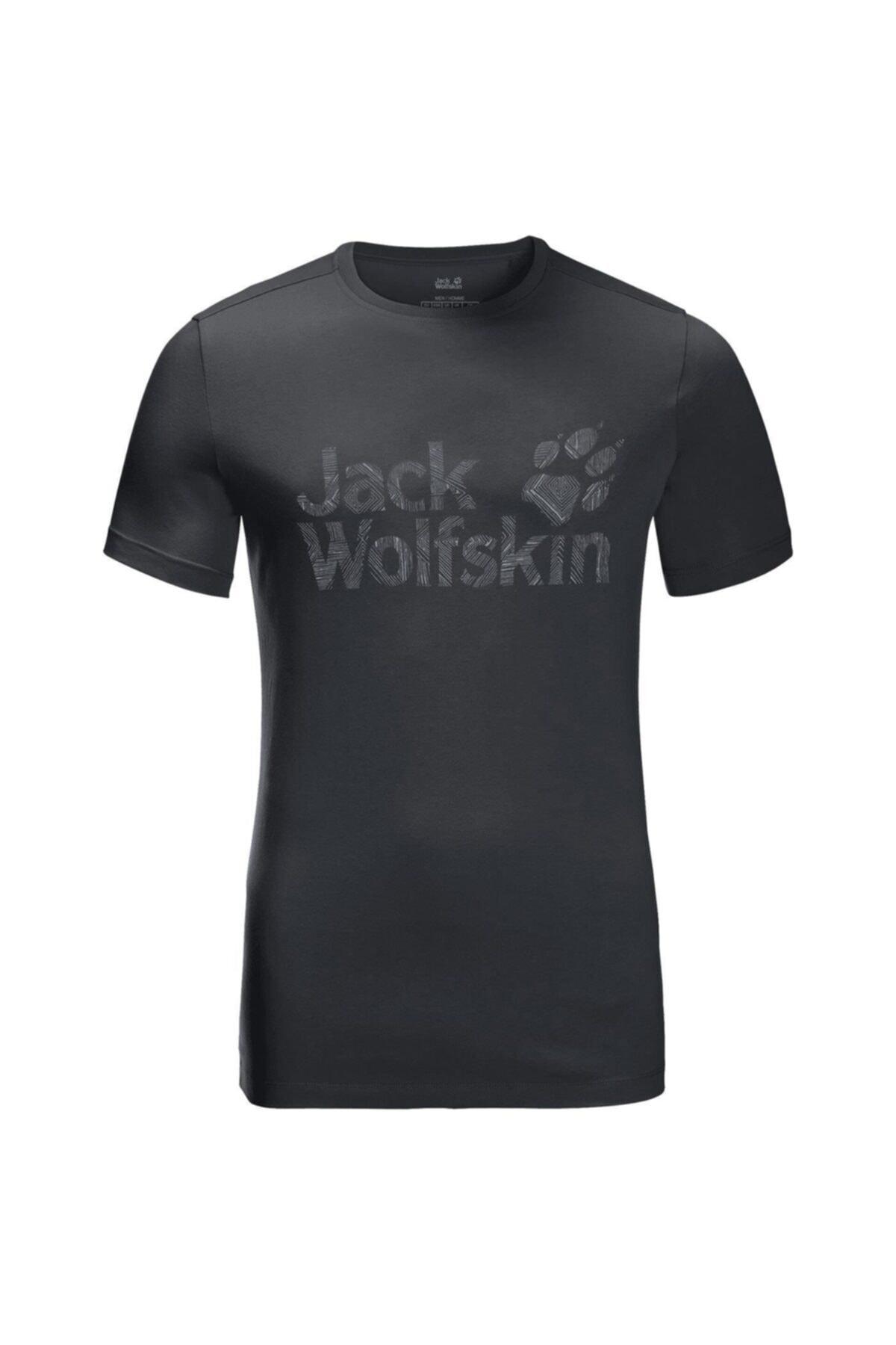 Jack Wolfskin Wolf Logo Erkek T-shirt - 5022191-6350 1