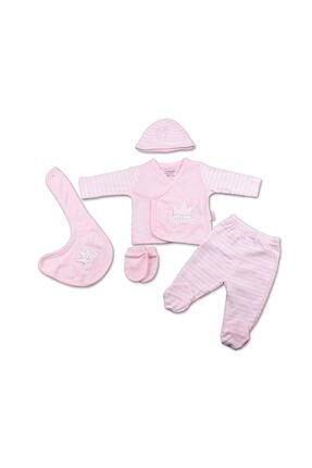 Ciccim Baby Bigbang Yeni Doğan Bebek Hastane Çıkışı 5 Li Zıbın Set Pembe
