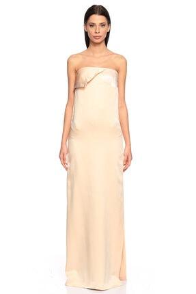 Lanvin Straplez Pudra Renk Gece Elbisesi