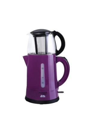 AWOX Teaplus Mor Elektrikli Cam Demlikli Çay Makinesi