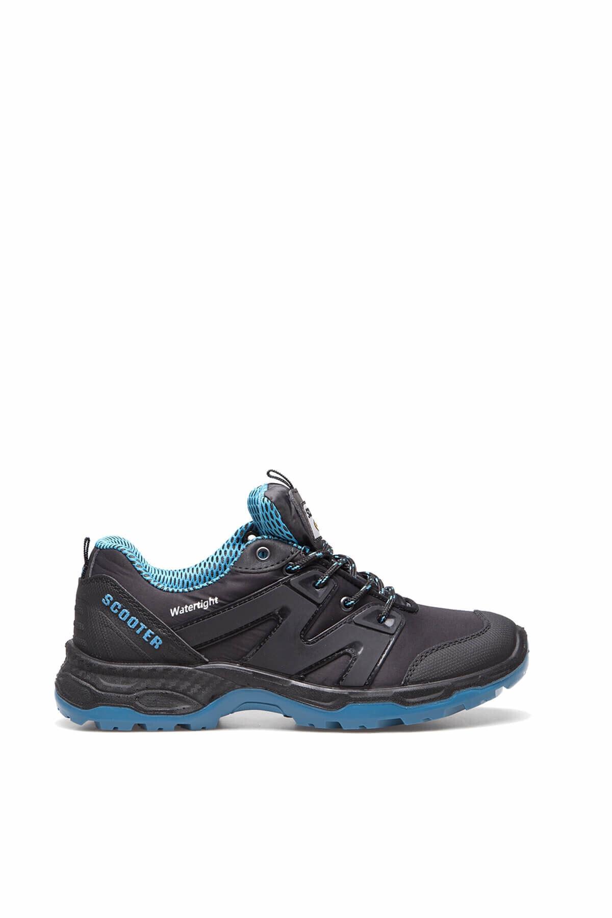 Scooter Su Geçirmez Kadın Siyah-Mavi Sneaker - 3W92G5222T 2
