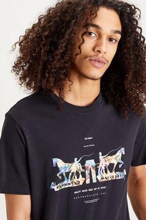Levi's Erkek Siyah Baskılı T-shirt 22495-0067