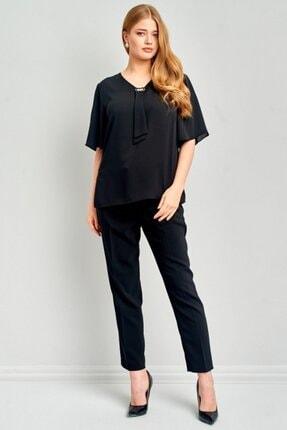Ekol Kadın Siyah Bluz 4508