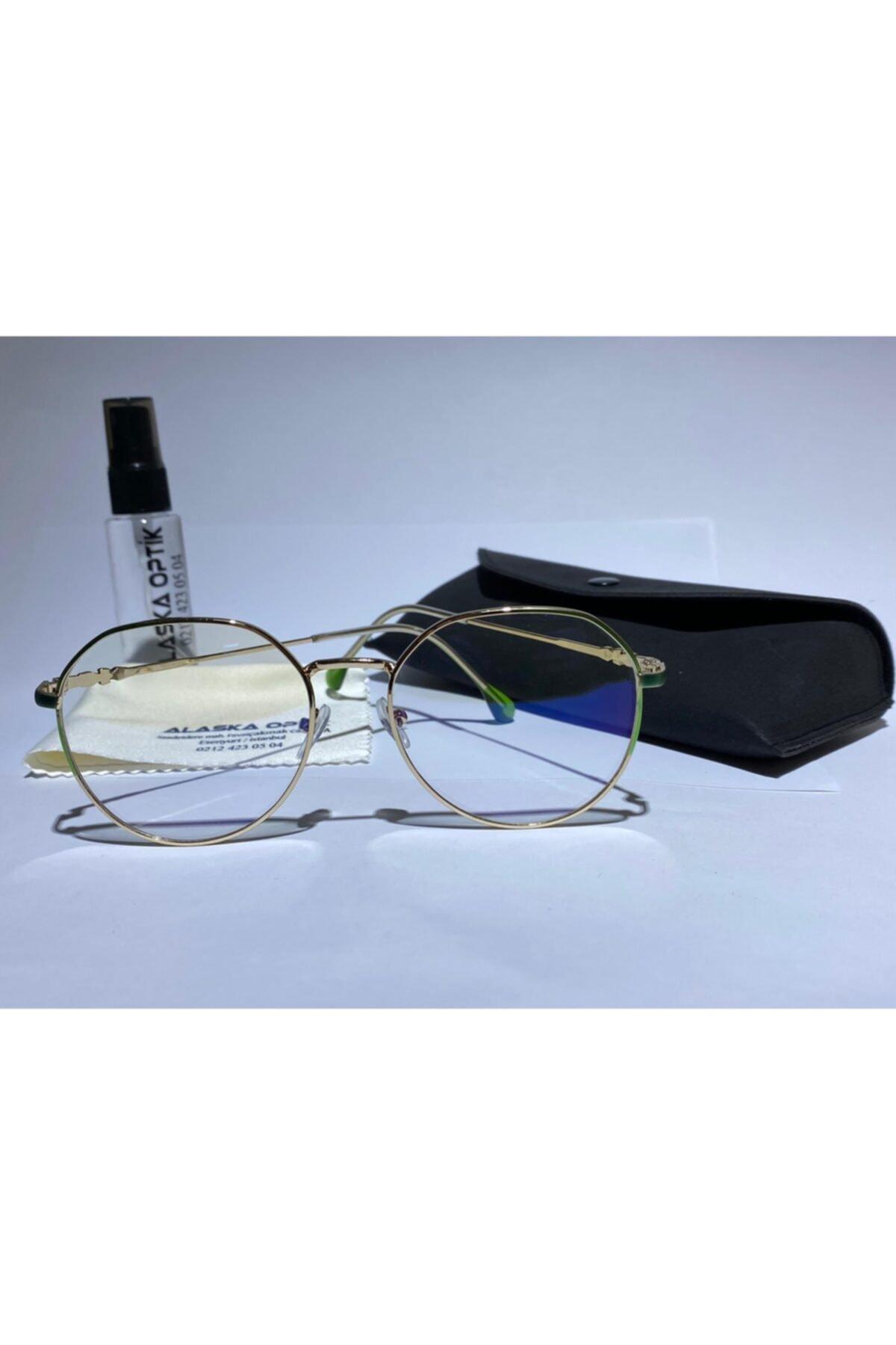 AlaskaEyewear Uv400, Blue, Bilgisayar Telefon, Mavi Işık Korumalı Ekran Gözlüğü Büyük Boy 1