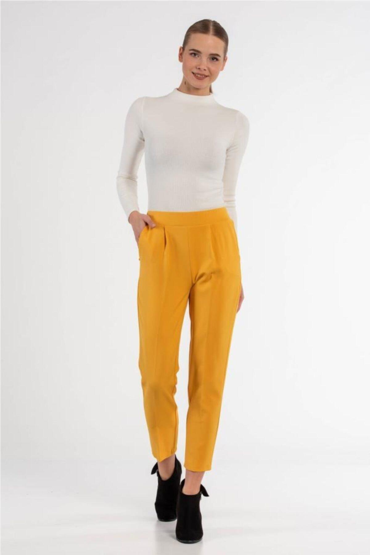Modkofoni Belden Lastikli Sarı Bilek Pantolon 1