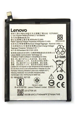 LENOVO K6 Note Batarya Pil Bl270 4000 Mah.