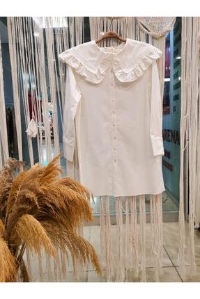 lamelif store Kadın Dantel Yaka Kadın Gömlek