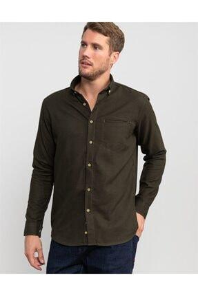 Tudors Klasik Fit Kışlıkhaki Erkek Gömlek