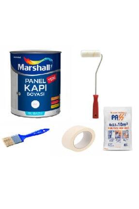 Marshall Beyaz  Kokusuz Amerikan Panel Kapı Boyası Su Bazlı  Boyama Seti 5 Parça 1 Lt