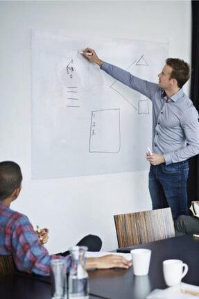 CNZ 2 Adet 60x100 Pratik Akıllı Pratik Kağıt Tahta Doldurulabilir Silgili Beyaz Tahta Kalemi Hediye
