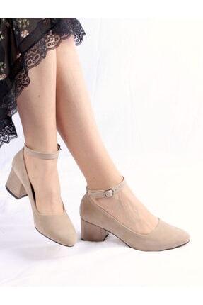 LİLA SHOES Kadın Ten Rengi Süet Topuklu Ayakkabı