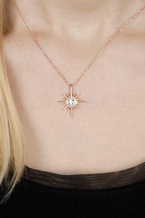 Afrodit Silver Kutup Yıldızı Gümüş Kolye