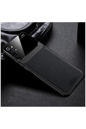 Dara Aksesuar Samsung Galaxy Note 10 Plus Uyumlu Siyah Zebana Lens Deri Kılıf