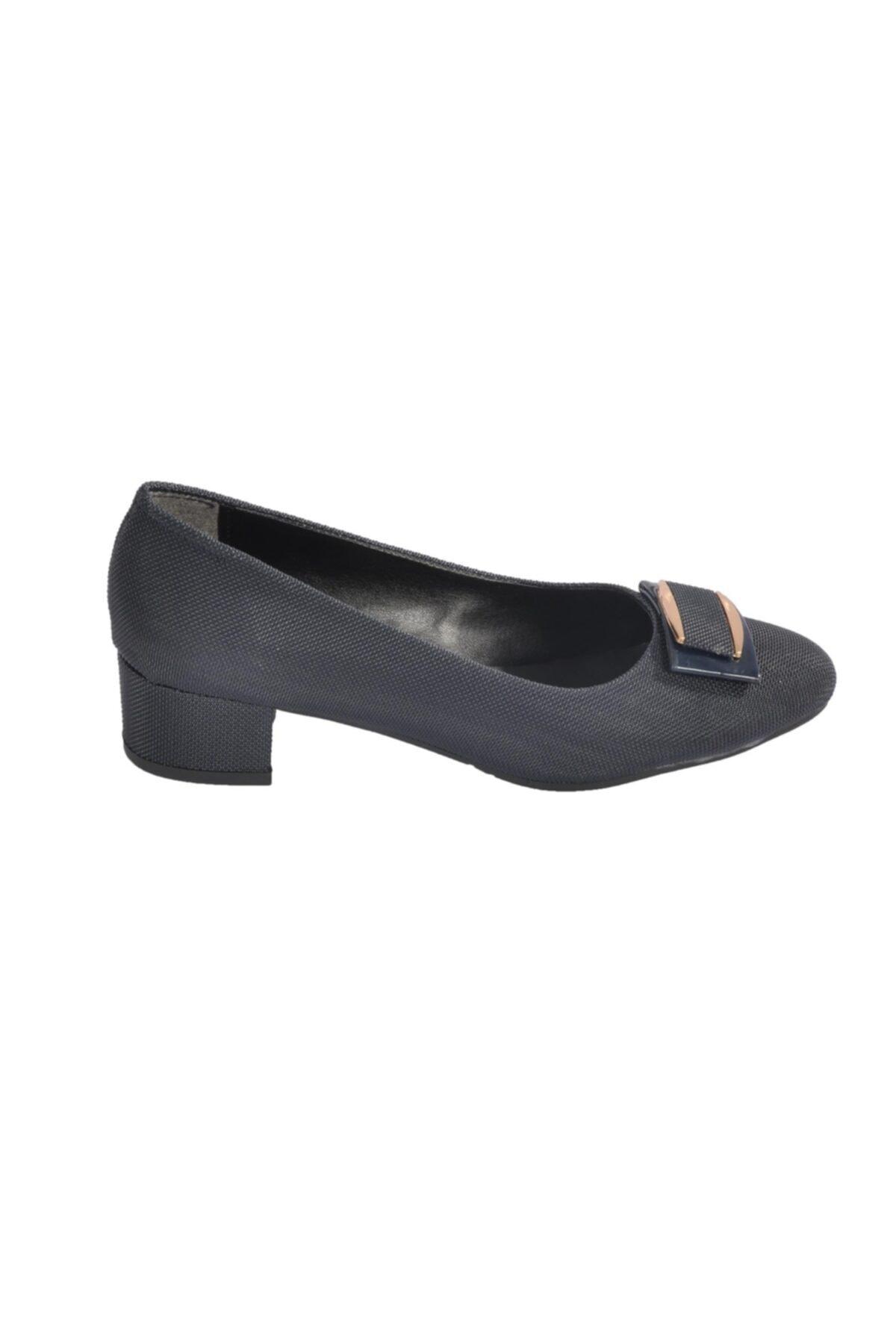 Maje Kadın Lacivert  Topuklu Ayakkabı 6032 2