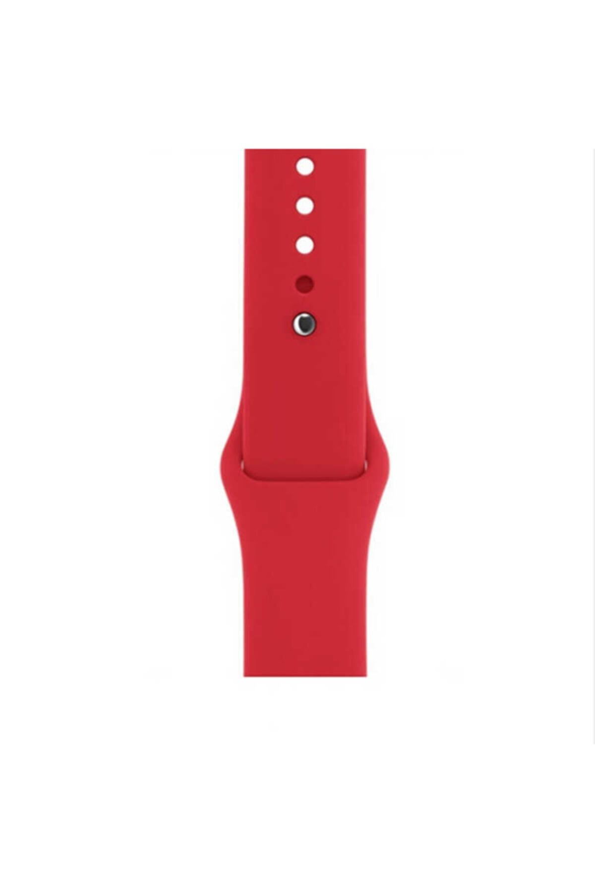 zore Apple Watch 1 2 3 4 5 6 Se Serisi 44mm Kordon Spor Silikon Mat Renkli Kayış 1