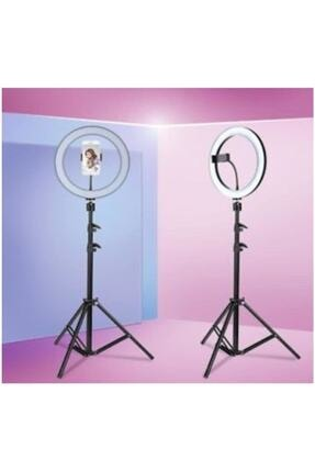 SAYWİN Kuaför Makyaj Çekimleri Ring Light Sürekli 10 Inç Işık 2m Stand